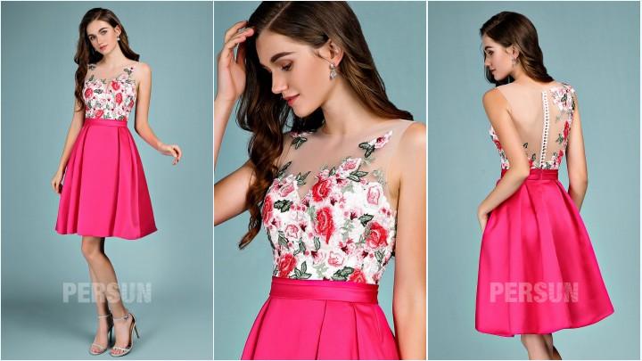 La robe ornée de fleurs 3D : l'ultime touche pour de romantisme pour une allure élégante et moderne à une cérémonie de mariage